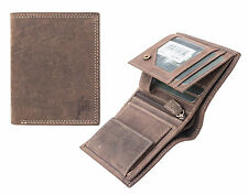 NEW Prime Hide Soft Brown Hunter Style Leather Wallet 8503