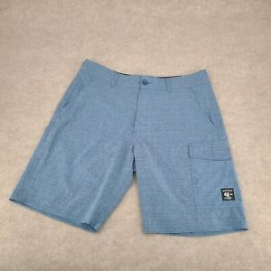 Vans Vanphibian Board Shorts Size 36 Blue Black Hybrid Pockets Bathing Suit Men