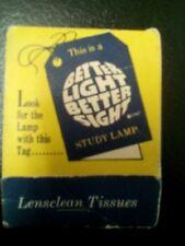 Vintage - Con Edison Clean Energy Lensclean Tissues - Matchbook Design 12 Sheets