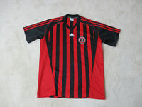 Adidas AC Milan Academy Soccer Jersey Adult Small Red Black Dri Fit Futbol Mens