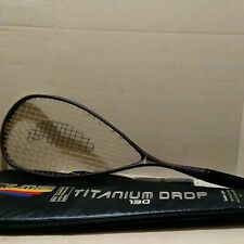 Feather Titanium Drop 130 Squash Racquet racket with cover
