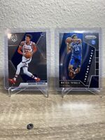 Lot (2) 2019-20 Panini Prizm And Mosaic Matisse Thybulle RC Base Instant Impact