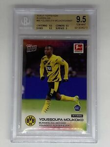 2020 Topps Now YOUSSOUFA MOUKOKO RC BGS GEM MINT 9.5 Rookie Card UEFA Champions