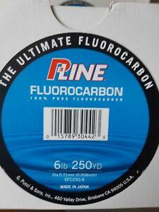 P LINE FLUOROCARBON 250 YD 100% PURE FISHING LINE 250 YDS 227M  UV RESIST SALE