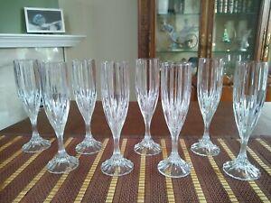 "Mikasa Park Lane Crystal 8 3/4"" Champagne Flutes - Set Of Eight"