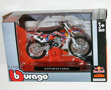 Burago - KTM 450 SX-F (2014) Red Bull Factory Racing Motorcycle Model Scale 1:18
