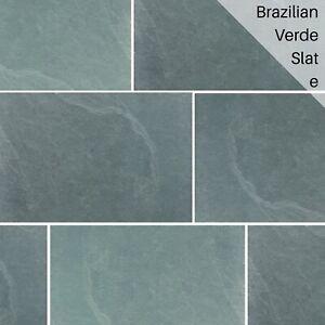 Brazilian Verde Green Slate Floor Wall Tiles 300x150x10mm £11.95Per m2