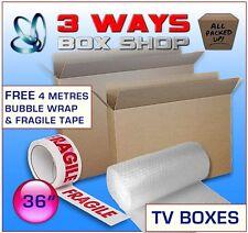 36inch LCD/Plasma TV Picture Cardboard Removal Box - FREE Bubble Wrap