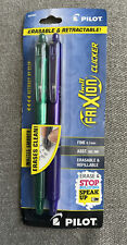 Pilot Frixion Clicker Erasable Gel Ink Pens 2 Pack Green And Purple