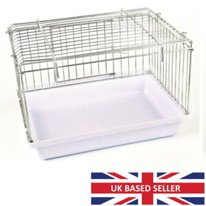 Large Bird Bath with Wire Top for Cage, Aviary Budgie, Finch, Canary, Cockatiel
