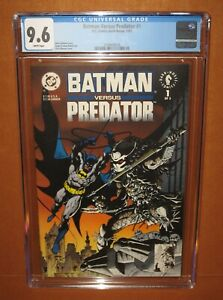 Batman versus Predator #1 (1991) CGC 9.6 WHITE pages! 12 HD pix INSURED!
