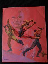 "STEVE RUDE Hand Colored  Signed SUPERHERO Comic Art 13""x17""  1994"