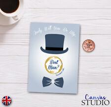Personalised Best Man Surprise Scratch Off Reveal Card Wedding Favour Groomsman