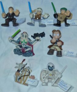 "LOT -7- Star Wars GALACTIC HEROS Figures ASSORTED 2.5"" Anakin LUKE +More EUC"