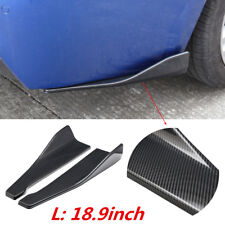 2x Universal Rear Bumper Spoiler Canards Diffuser Car Side Fin Scratch Protector
