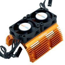 Powerhobby Heat Sink w Twin Turbo High Speed Cooling Fans 1/8 Motors Orange