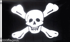 Pirate Richard Worley Caribbean Sea Jolly Roger Skull and Crossbone 5'x3' Flag