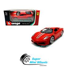 Bburago 1:64 Ferrari 430 Scuderia ( Red ) Race & Play 2019 Brand New