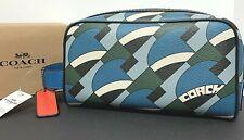 Coach Dopp Kit Deco Print Travel Pouch Bag New