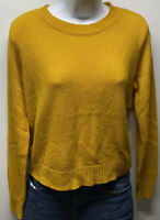 Divided H&M Womens Long Sleeve Pullover Crewneck Sweater Yellow Size Small