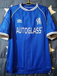 Size M Chelsea 1999-2001 Home Football Shirt Jersey Umbro