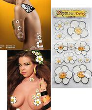 15 Yellow Daisy Flowers Body Sticker Glitter Crystal Rhinestones Art Bee Costume