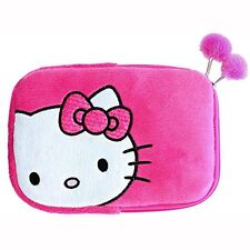Hello Kitty Pink Plush Sleeve With Built-in Stand for 7 to 8 Inch Tablets