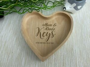 Key Tray Dish Personalised Housewarming Gift Home Decor Keys Trinkets Heart