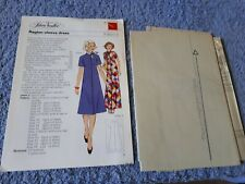 Vintage 1970s Silver Needles sewing pattern No: 9 Raglan-sleeve dress uncut