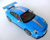 Porsche 911 GT3 RS 4 Racing Diecast Car Model Blue - 1:18 New