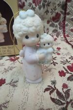 Precious Moments Ornaments Love Is The Best Gift Of All 1987 Girl with Baby Doll