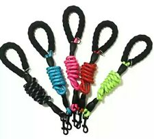 New listing (2 Pack) Upgraded 5ft Rope Dog Leash With Accessory Ring *8 Color Options*