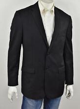 JOS A BANK TRAVELER'S Solid Black 4-Season Wool SLIM FIT Suit Jacket 42L