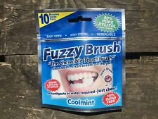 FUZZY BRUSH CHEWABLE TOOTHBRUSH - Coolmint Disposable Travel Camping Wash Kit