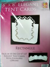"""Cards and Envelopes 8 x 8"""" Tent Cards Pack of 10 Rectangle"""