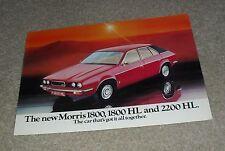 Austin Morris 1800 1800 HL 2200 HL Brochure 1975 - Leyland Princess