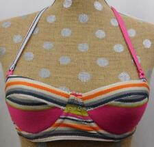 Asos Swim Striped Pink Bikini Bathing Swim Suit Top Straps US 30B UK 30B New
