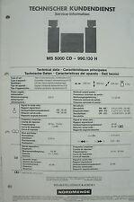 NORDMENDE - MS 5000 CD 990.130 H - Service Information - B2580