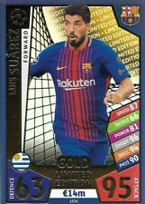 MATCH ATTAX CHAMPIONS LEAGUE 2017/18 LIMITED EDITION LUIS SUAREZ GOLD BARCELONA