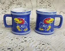 Kansas Jayhawks liscensed sculpted shot glass set of 2