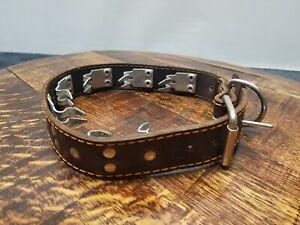 Dog My Love Leather Choke Pinch Training Collar Adjustable