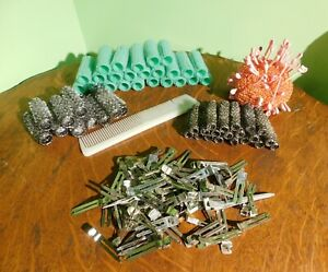 Vintage Wire Mesh Brush Hair Curlers Rollers Lot of 51 **