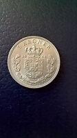 5 Kroner Coin, 1968, Denmark, King Frederick IX, Copenhagen, Copper-Nickel