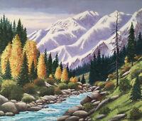 b.1920 W. Harold Hancock MOUNTAIN Landscape STREAM Western YOSEMITE High Sierra