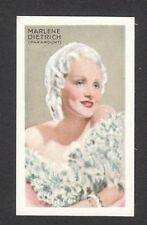 Marlene Dietrich Vintage 1934 Movie Film Star Cigarette Card
