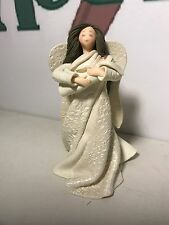 "COLLECTIBLE 8"" MIRACLES KNEEDED ANGEL AND BABY FIGURINE #6904 BY CAROL GRAZIANO"