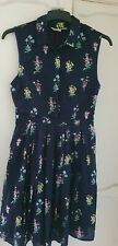 Ladies Yumi Floral Button Front Shirt Dress Size 14
