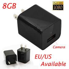 HD 1080P Mini USB WALL AC Adapter  EU Plug Charger Spy camera Nanny FBI DV 8GB