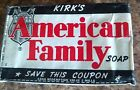 RARE 1940'S VINTAGE KIRK'S AMERICAN FAMILY BAR SOAP BAR UNOPENED. 47 available