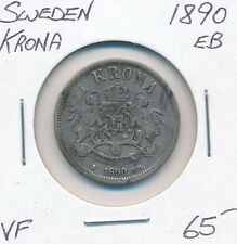 SWEDEN KRONA 1890 EB   -  VF
